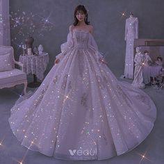 Fairytale Dress, Fairy Dress, Wedding Dress With Veil, Dream Wedding Dresses, Pretty Dresses, Beautiful Dresses, Princess Dress Patterns, Sparkly Gown, Princess Ball Gowns