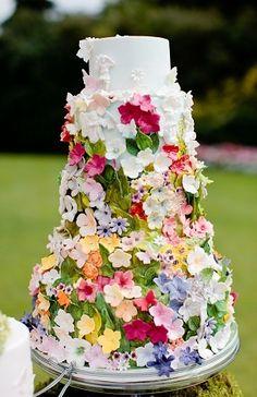 Sugar Flower Forest Cake