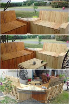 Pallet Outdoor Couches and Table