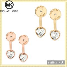 セレブ愛用者多数☆Michael Kors☆Stud Heart Earring Jackets