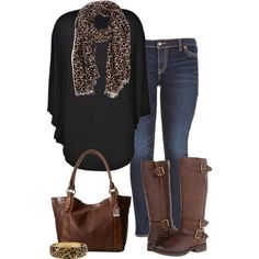 A fashion look from November 2014 featuring Boohoo dresses, Silver Jeans Co. leggings and Naturalizer boots. Browse and shop related looks.