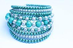 Smaragdový.. Turquoise Bracelet, Beaded Bracelets, Jewelry, Accessories, Jewlery, Jewerly, Pearl Bracelets, Schmuck, Jewels