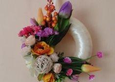 Venčeky na dvere Floral Wreath, Wreaths, Handmade, Home Decor, Floral Crown, Hand Made, Decoration Home, Door Wreaths, Room Decor