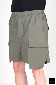 TE 35 EUCA Cotton Rubber Buttons Corozo Rick Owens - Walrus - Made in Italy Model is wearing size He is Rick Owens, Boxers, Shorts, Model, How To Wear, Cotton, Shopping, Collection, Fashion
