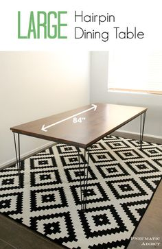 LARGE Hairpin Dining Table