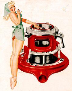 Vintage Gal: RIDGID Tools Ads byGeorgePetty C. 1950's