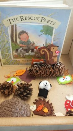 Percy the park keeper story basket Eyfs