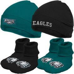 NFL Philadelphia Eagles Infant Clothing Set, 4-Piece, 2 Caps & 2 Booties, 0-6 Months Gerber. $19.95