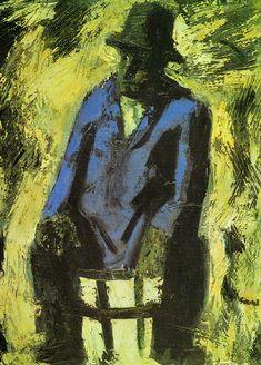 "Mario Sironi. ""La giacca azzurra"" (1955)"