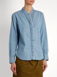 Click here to buy Isabel Marant Étoile Awendy ruffled chambray shirt at MATCHESFASHION.COM