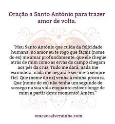 oração de Santo António para trazer amor de volta