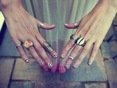 rings, colors....