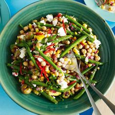 Warm chickpea salad: from Cuisine NZ - a great easy recipe ... beautiful salad