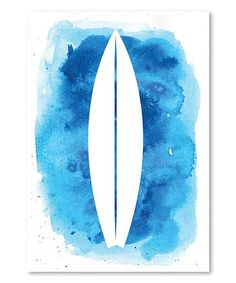 Loving this Watercolor Surfboard Wall Art on #zulily! #zulilyfinds