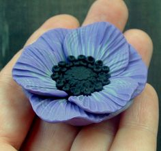 Poppies Part 2 Polymer Clay Flowers, Fimo Clay, Polymer Clay Projects, Polymer Clay Creations, Polymer Clay Jewelry, Clay Crafts, Clay Design, Clay Tutorials, Cold Porcelain