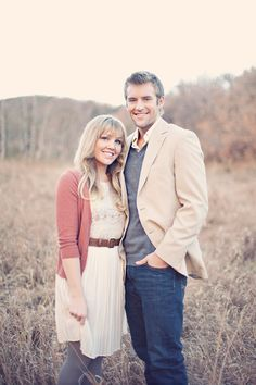 Outfit idea. love this engagement session by alixann loosie photography.