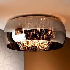 DESCUENTOS - OFERTAS - OUTLET Plafón cromo 50 cm lámpara techo interior ARGOS. #iluminación #decoración