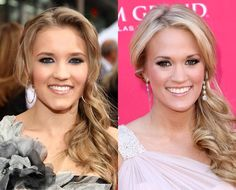 Emily Osmet and Carrie Underwood... oh my gosh they look like twins!