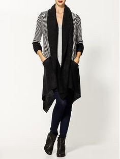 Suss Frequent Stripe Cardigan Sweater | Piperlime