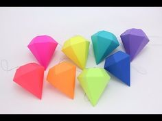 How To Make A Origami Paper Diamond Easy-DIY Simple Origami Diamond Tutorial Follow the video tutorial step by step to fold a origami paper diamond. Size 13x...