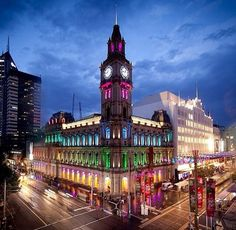 The City of Adelaide in Australia has a confusing variety of traveler attractions as well as locations that are fantastic for those holidaymakers and visitors out there. Melbourne Girl, Melbourne Travel, Melbourne Victoria, Melbourne Australia, City Of Adelaide, Amazing Buildings, Night City, Cool Countries, Wonders Of The World