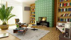 Gratis obraz na Pixabay - Kominek, Apartament, Pokój