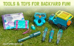Tools and toys for outdoor exploration and discovery!