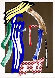 Brushstroke Head (untitled) | Roy Lichtenstein | 1986