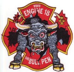 Awesome Bull Fire Patch from Virginia Beach- Engine 18.