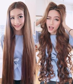 When I wear my hair straight, I sometimes forget that I am indeed 24 years old What do you prefer on me? Straight or curly?