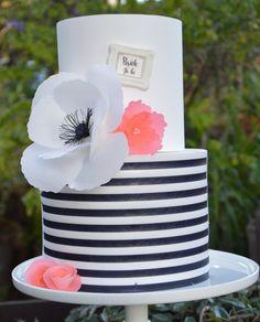 New Bridal Shower Cake Designs Kate Spade 39 Ideas Gorgeous Cakes, Pretty Cakes, Amazing Cakes, Bridal Shower Cakes, Baby Shower Cakes, Kate Spade Cake, Black White Cakes, Kate Spade Bridal, My Birthday Cake