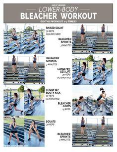 Lower-Body Bleacher Workout!