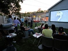 Outdoor Movie Screen in 15 Family-Friendly Backyard Designs from HGTV