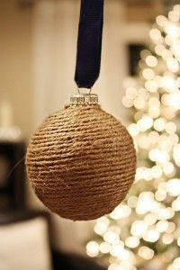 rustic-decor on our Christmas tree