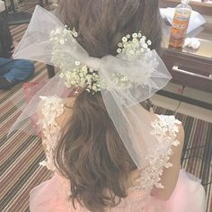 Elegant Wedding, Rustic Wedding, Dream Wedding, Korean Wedding Photography, Bow Hair Clips, Girls Makeup, Bride Hairstyles, Lolita Fashion, Hair And Nails