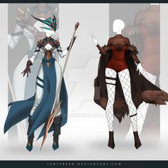 (CLOSED) Adoptable Outfit Auction by JawitReen on DeviantArt Source by wysnie outfit Dress Drawing, Drawing Clothes, Female Character Design, Character Design Inspiration, Anime Outfits, Cool Outfits, Ninja Outfit, Female Armor, Clothing Sketches