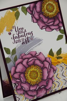 Blended Bloom meets Work of Art from Stampin' Up!.  Heather Van Looy, Independent Stampin' Up! Demonstrator in Johns Creek, GA.  Follow my blog for more great projects (www.handcraftingwithheather.com).