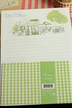 Photo1: Kawaii Letter Set - A nice sunday