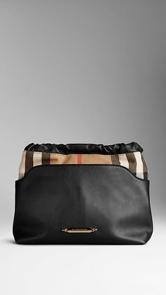 The Little Crush in Leather and House Check | Burberry