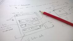 Takto to začíná, myšlenka, tužka a papír ... a za chvíli je na světě on-line helpdesk s Hypos CRM