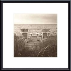 'Beach Chairs' by Christine Triebert Framed Photographic Print