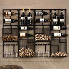 Modular Cork Catcher System – Home bar designs Canto Bar, Wine Rack Design, Wine Dispenser, Wine Rack Wall, Wine Wall Decor, Wine Decor For Kitchen, Wall Mounted Wine Racks, Wine Bottle Holder Wall, Wine Rack Shelf