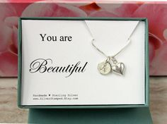 You are Beautiful jewelry gift box sterling by SilverStamped