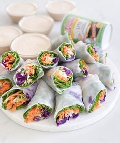 Fresh Summer Rolls With Spicy Peanut Sauce | Tony Chachere's Dinner Side Dishes, Dinner Sides, Yummy Appetizers, Appetizer Recipes, Cooking Oxtails, Spicy Peanut Sauce, Dill Sauce, Summer Rolls, No Sugar Foods