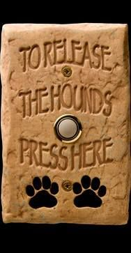 I should get this for my parents house when my love bug's there... The dogs come running when there's a knock at the door! Lol