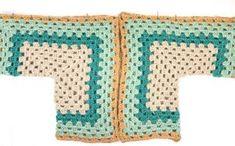The Campfire Cardigan - Free Crochet Hexagon Sweater Pattern Crochet Jumper, Crochet Ripple, Crochet Coat, Crochet Cardigan Pattern, Crochet Shawl, Crochet Clothes, Easy Crochet, Free Crochet, Modern Crochet Patterns
