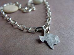 custom tiny state bracelet