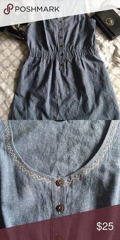 Charlotte Ronson Jean dress sz M Cute Charlotte Ronson Jean dress. Hits above knees. Side pockets, wooden buttons. Charlotte Ronson Dresses