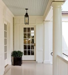 Blue Beadboard Ceiling, Traditional, porch, Old House