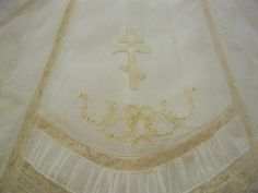 Christening gown embroidery